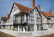 Mock Tudor style half timbered houses at Thorpeness, Suffolk, England