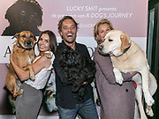 2019, June 12. UPI, Amsterdam, the Netherlands. Rosanna Lima, Yuki, Bas Smit, Lucky, Anouk Smulders and Scoop at the dutch premiere of A Dog's Journey.