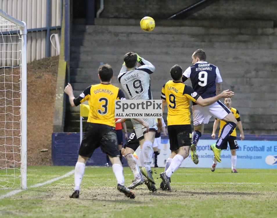 Jamie Ewaings in fine form during the Raith Rovers v Dumbarton  Scottish Championship 23 January 2016<br /> <br /> (c) Andy Scott | SportPix.org.uk