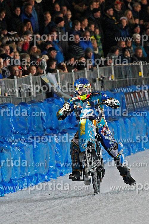 13.03.2016, Assen, BEL, FIM Eisspeedway Gladiators, Assen, im Bild Guenter Bauer (GER) // during the Astana Expo FIM Ice Speedway Gladiators World Championship in Assen, Belgium on 2016/03/13. EXPA Pictures © 2016, PhotoCredit: EXPA/ Eibner-Pressefoto/ Stiefel<br /> <br /> *****ATTENTION - OUT of GER*****