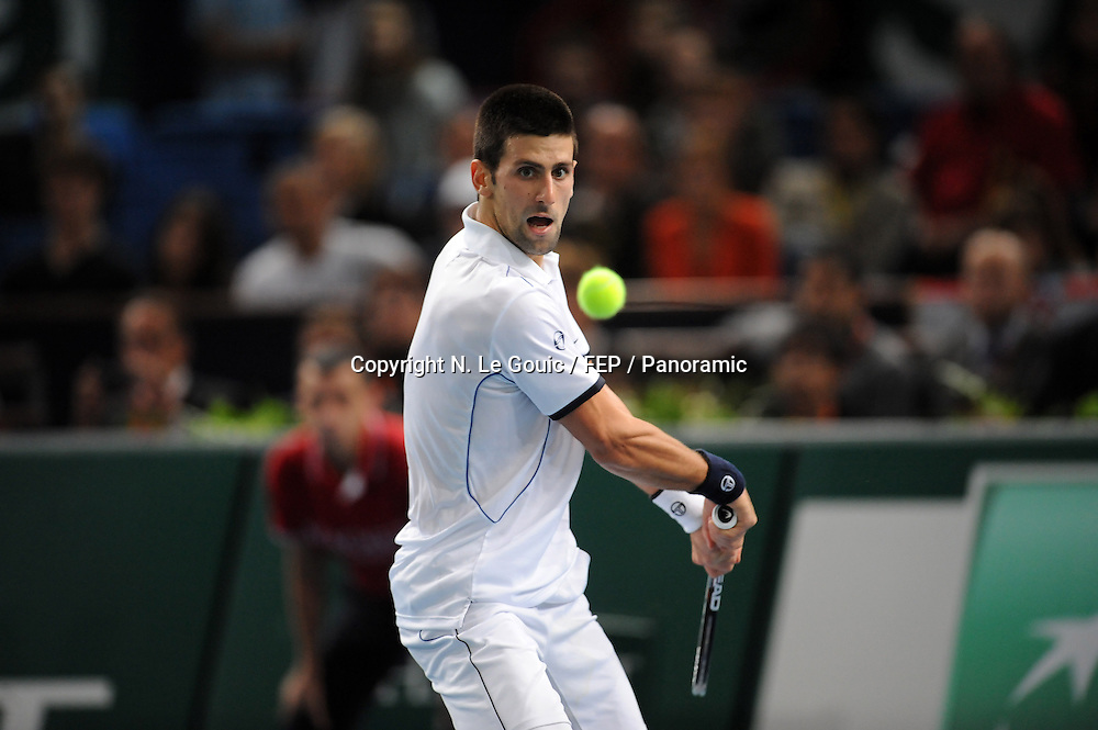Novak Djokovic (SRB), BNP Paris Masters Tennis, Paris France. 9 November 2011. Photo: Panoramic