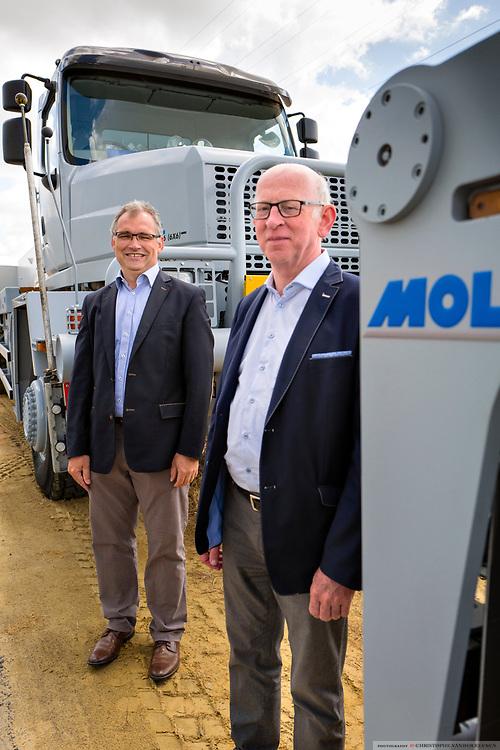 Staden, Belgium, 7 jun 2017, Director Lieven Nueville and CEO Martin Mol of Mol Cy industrial vehicel manufacturing
