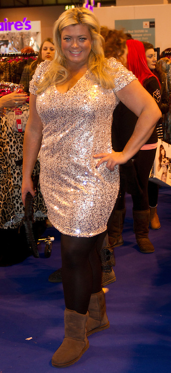 © Licensed to London News Pictures. 10/12/2012. Birmingham, UK. Gemma Collins at Clothes Show Live. Clothes Show Live is the UK's largest fashion and beauty event taking place at the NEC between the 7th to 11th December. Photo credit : Ashley Hugo/LNP