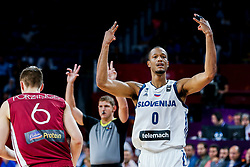 Anthony Randolph of Slovenia reacts during basketball match between National Teams of Slovenia and Latvia at Day 13 in Round of 16 of the FIBA EuroBasket 2017 at Sinan Erdem Dome in Istanbul, Turkey on September 12, 2017. Photo by Vid Ponikvar / Sportida