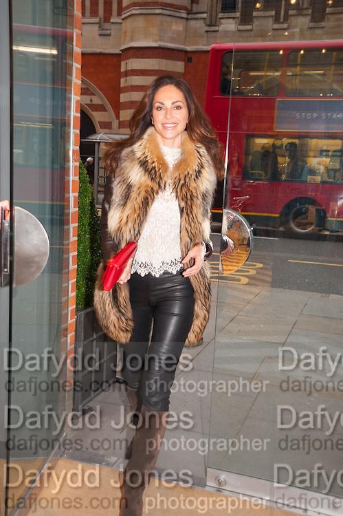 TASHA DE VASCONCELOS, Smythson Sloane St. Store opening. London. 6 February 2012.