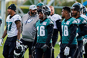 Philadelphia Eagles DeAndre Carter WR (16) end their practice session during the press, training and media day for Philadephia Eagles at London Irish Training Ground, Hazelwood Centre, United Kingdom on 26 October 2018. Picture by Jason Brown.