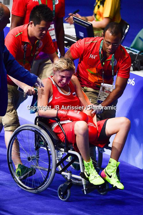 sortie sur blessure de  BELIAKOVA Anastasiia (rus) - demie finale poids leger - 57-60kg - femmes