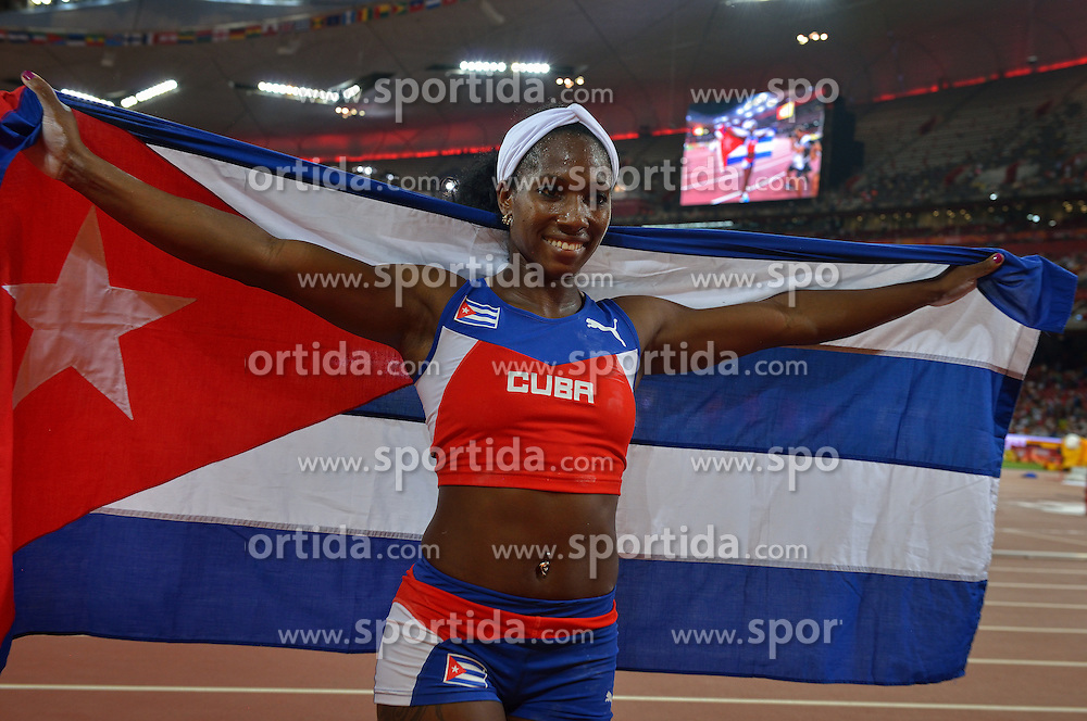 26-08-2015 CHN: IAAF World Championships Athletics day 5, Beijing<br /> Winner Yarisley Silva CUB at pole vault<br /> Photo by Ronald Hoogendoorn / Sportida