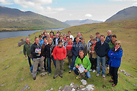 Georg Gerharter CEO of Bio Landwirtschaft (Organic Agriculture, an Austrian organic farmers organisation) and other members of the organisation with organic sheep farmer, James O'Neill(2nd from left) from 12 Bens in Connemara. The group of nearly 40 Austrian farmers were in Ireland this week to see some Irish organic farming as well as giving a few inside tips of the trade from an organically forward nation. The trip was organised by the Irish Cattle and Sheep Farmers' Association (ICSA) as they were keen on an exchange of views with a group of Austria's premier organic farmers. Photo:Andrew Downes