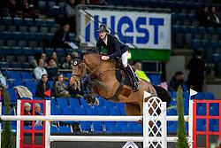 DEVOS Peter (BEL), Flash<br /> Stuttgart - German Masters 2018<br /> Eröffnungsspringen<br /> 15. November 2018<br /> © www.sportfotos-lafrentz.de/Stefan Lafrentz