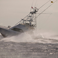 Sportfishing  boat off Oahu's West coast