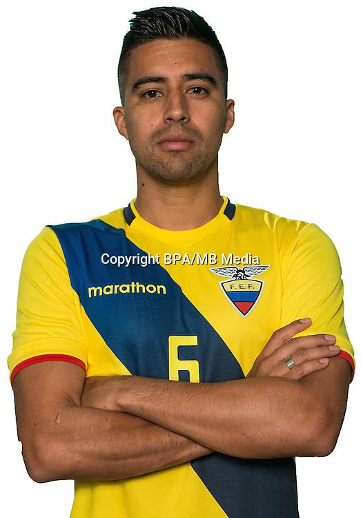 Football Conmebol_Concacaf - <br />Copa America Centenario Usa 2016 - <br />Ecuador National Team - Group B - <br />Christian Noboa