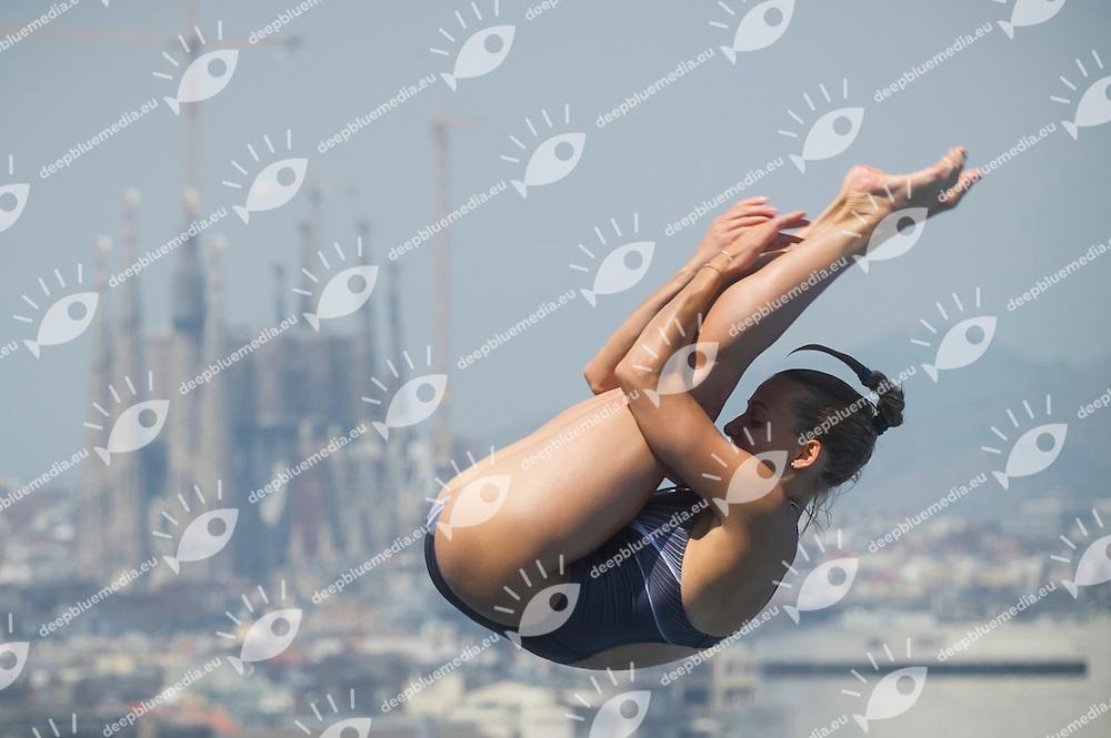Tania Cagnotto ITA<br /> Women's 1m springboard preliminaries<br /> 15th FINA World Aquatics Championships<br /> Barcelona 19 July - 4 August 2013<br /> Piscina Municipal de Montjuic, Barcelona (Spain) 21/07/2013 <br /> &copy; Giorgio Perottino / Deepbluemedia.eu / Insidefoto