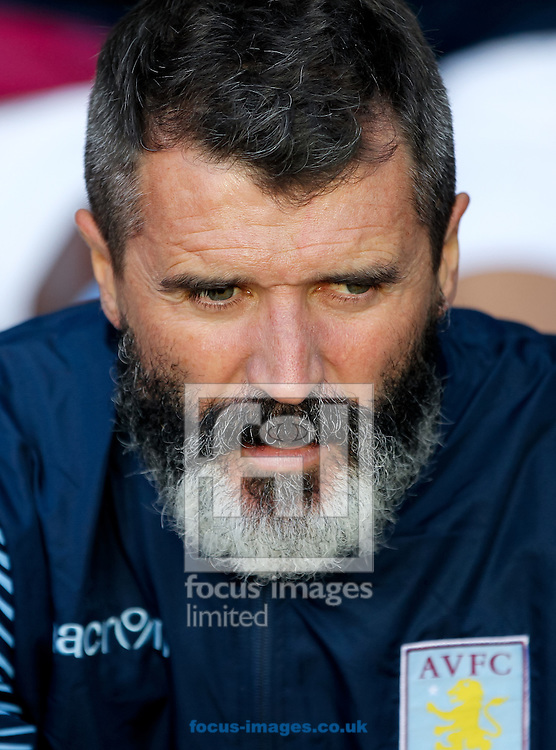Roy Keane of Aston Villa takes his seat before the Barclays Premier League match at Villa Park, Birmingham<br /> Picture by Tom Smith/Focus Images Ltd 07545141164<br /> 04/10/2014