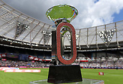 Jul 20, 2019; London, United Kingdom; Detailed view of the IAAF Diamond League trophy at the London Anniversary Games at London Stadium at  Queen Elizabeth Olympic Park.