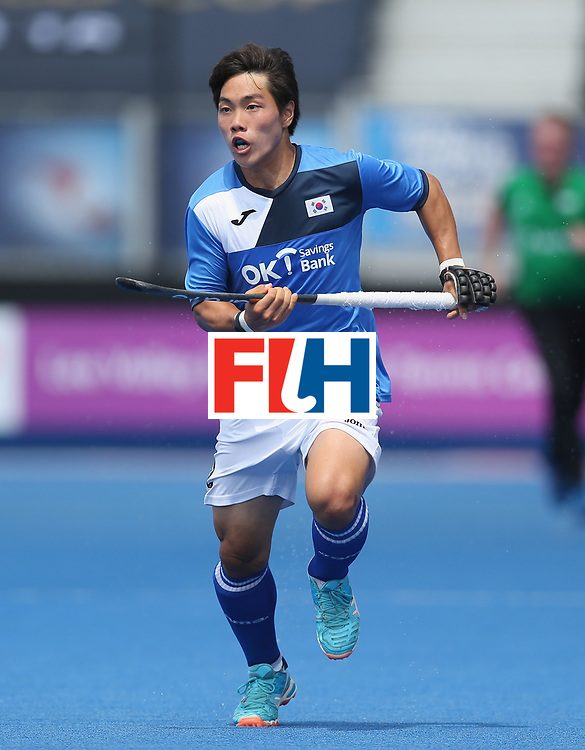 LONDON, ENGLAND - JUNE 17:  Hoon Kim Ki of South Korea during the Hero Hockey World League semi final match between China and Korea at Lee Valley Hockey and Tennis Centre on June 17, 2017 in London, England.  (Photo by Alex Morton/Getty Images)