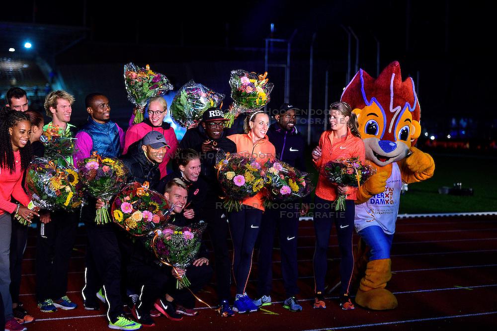 05-09-2015 NED: Flame Games 2015, Amsterdam<br /> De sfeervolle derde editie van het unieke atletiekevenement trok duizenden sportliefhebbers naar het Olympisch Stadion / Dafne Schippers, Churandy Martina, Susan Kuijken
