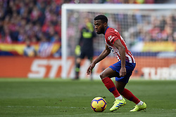 February 9, 2019 - Madrid, Madrid, Spain - Thomas Lemar of Atletico Madrid during the week 23 of La Liga between Atletico Madrid and Real Madrid at Wanda Metropolitano stadium on February 09 2019, in Madrid, Spain. (Credit Image: © Jose Breton/NurPhoto via ZUMA Press)