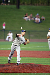 12 August 2011: Joe Scumaci during a game between the Rockford River Hawks and the Normal Cornbelters at the Corn Crib in Normal Illinois.