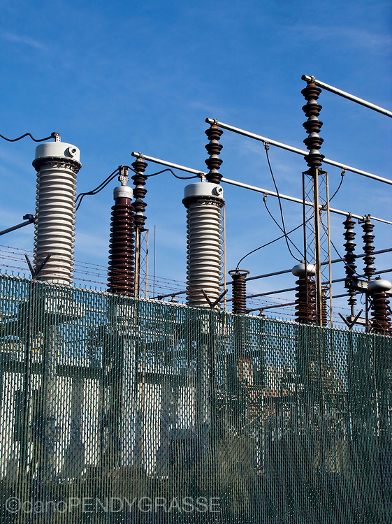 Power substation. Vancouver, BC, Canada.