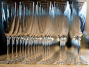Photo by Matt Roth<br /> Assignment ID: 30148071A<br /> <br /> Rows of wine flutes sit atop the bar at Fiola during the wedding reception of David Hagedorn, a chef and food writer, and Michael Widomski, a spokesman for the National Weather Service, in Washington, DC, Sunday, September 22, 2013. They were the second same-sex couple married by Justice Ruth Bader Ginsburg since the Supreme Court overturned DOMA.