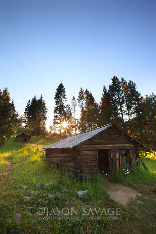 Sunset at Garnet Ghosttown, Montana.