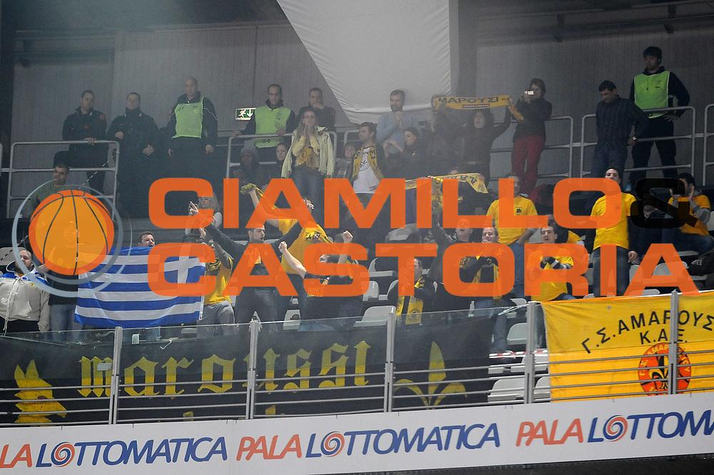 DESCRIZIONE : Roma Eurolega 2009-10 Lottomatica Virtus Roma Maroussi BC<br /> GIOCATORE : Tifosi Maroussi BC<br /> SQUADRA : Maroussi BC<br /> EVENTO : Eurolega 2009-2010 <br /> GARA : Lottomatica Virtus Roma Maroussi BC<br /> DATA : 16/12/2009<br /> CATEGORIA : Esultanza<br /> SPORT : Pallacanestro <br /> AUTORE : Agenzia Ciamillo-Castoria/G.Ciamillo<br /> Galleria : Eurolega 2009-2010 <br /> Fotonotizia : Roma Eurolega 2009-2010 Lottomatica Virtus Roma Maroussi BC<br /> Predefinita :