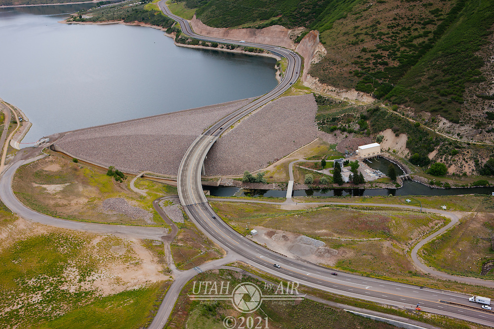 The Deer Creek Reservoir Dam