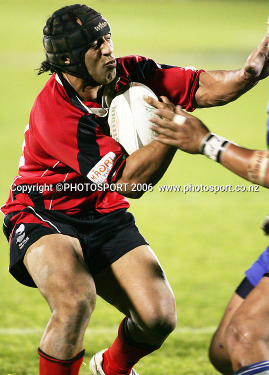 Bulls prop Alex Timo hits the ball up during the round 13 Bartercard Cup rugby league match between the Tamaki Leopards and the Canterbury Bulls at Mt Smart Stadium, Auckland, New Zealand on Saturday 1 July 2006. Photo: Tim Hales/PHOTOSPORT