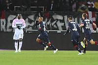 Joie Wahbi KHAZRI - 07.02.2015 - Evian Thonon / Bordeaux - 24eme journee de Ligue 1<br /> Photo : Jean Paul Thomas / Icon Sport