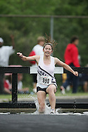 Hamilton, Ontario ---05/06/08--- Katie Maziarski of LoinEllen Park in Sudbury competes in the steeplechase at the 2008 OFSAA Track and Field meet in Hamilton, Ontario..GEOFF ROBINS