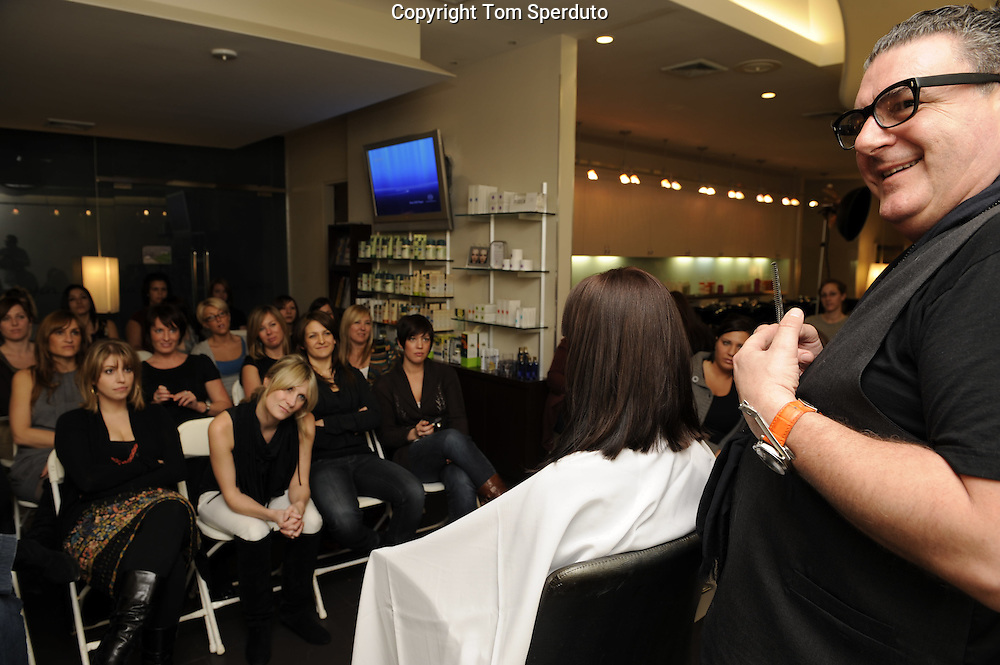 Tim Hartley, one of the worlds greatest hairdressers, at the Metropolis Salon in Princeton, NJ Feb 27. 2008.