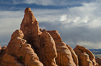 Sandstone fins, Arches National Park, Utah
