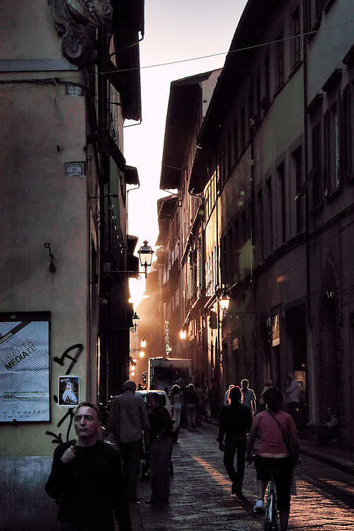 Just before sunset in Florence Italy.