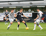 Dunfermline's Johsn Falkingham and Callum Fordyce try to stop Dundee's Greg Stewart  - Dunfermline Athletic v Dundee - Scottish League Cup at East End Park<br /> <br />  - &copy; David Young - www.davidyoungphoto.co.uk - email: davidyoungphoto@gmail.com