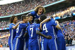 Goal, Nemanja Matic of Chelsea scores, Chelsea 4-2 Tottenham Hotspur - Mandatory by-line: Jason Brown/JMP - 22/04/2017 - FOOTBALL - Wembley Stadium - London, England - Chelsea v Tottenham Hotspur - Emirates FA Cup Semi-Final