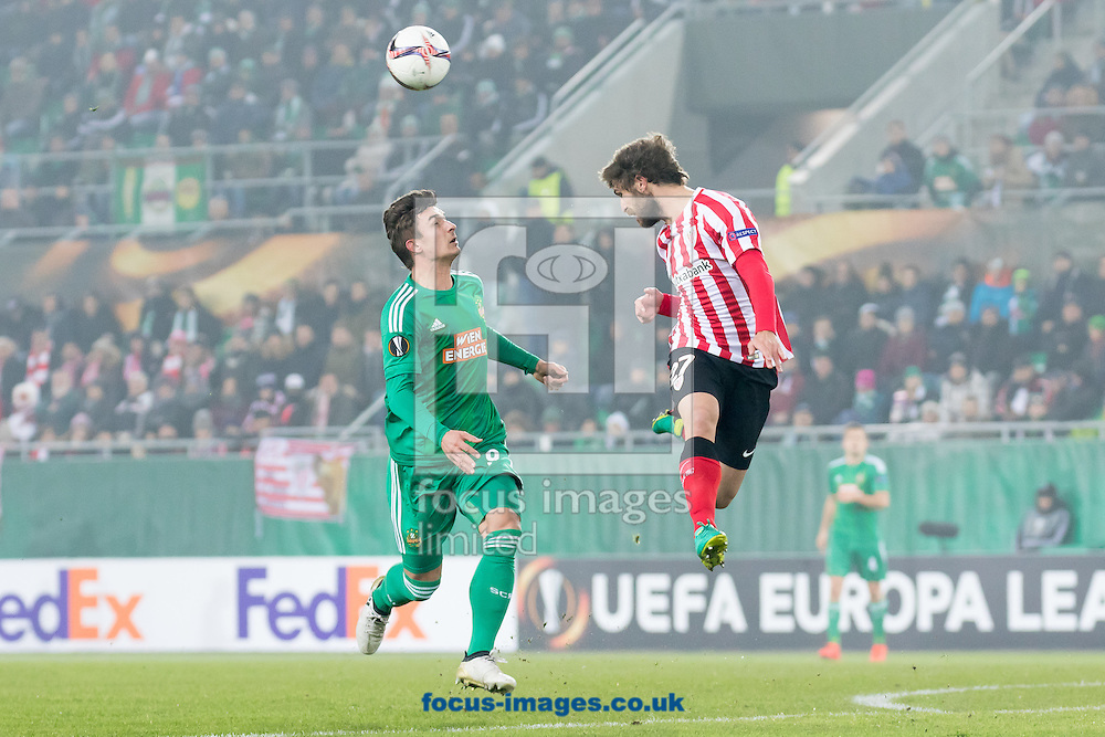 Matej Jelic of Rapid Vienna and Yeray Alvarez of Athletic Bilbao during the UEFA Europa League match at Allianz Stadion, Vienna<br /> Picture by EXPA Pictures/Focus Images Ltd 07814482222<br /> 08/12/2016<br /> *** UK &amp; IRELAND ONLY ***<br /> <br /> EXPA-PUC-161208-0068.jpg