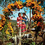 Mixteco woman and her child, Dia de Los Muertos, Guerrero, Mexico. Photo by Jen Klewitz