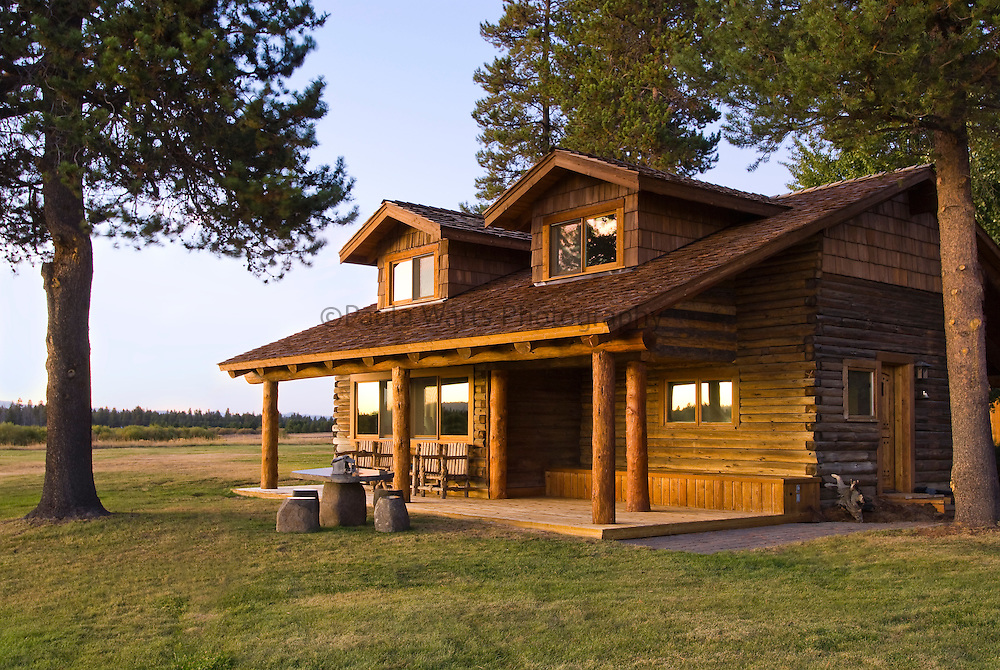 Country Classic Log Cabin In Nature Advertising