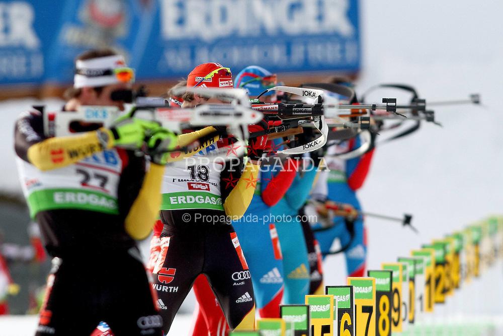 10.12.2011, Biathlonzentrum, Hochfilzen, AUT, E.ON IBU Weltcup, 2. Biathlon, Hochfilzen, Verfolgung Herren, im Bild Roesch Michael (GER) und Peiffer Arnd (GER) beim Stehendschiessen // during E.ON IBU World Cup 2th Biathlon, Hochfilzen, Austria on 2011/12/10. EXPA Pictures © 2011. EXPA Pictures © 2011, PhotoCredit: EXPA/ nph/ Straubmeier..***** ATTENTION - OUT OF GER, CRO *****