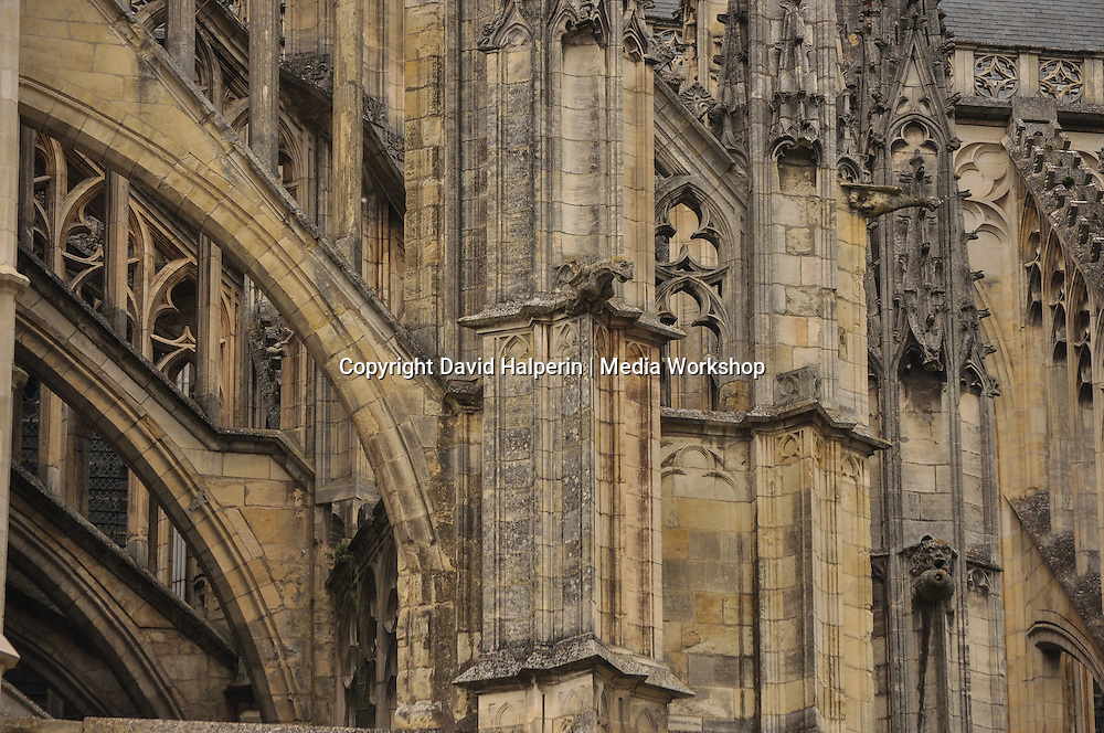 Orleans cathedral gothic stone detail