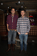 CHARLIE GILKES; DUNCAN STIRLING, The launch of Beaver Lodge in Chelsea, a cabin bar and dance saloon, 266 Fulham Rd. London. 4 December 2014