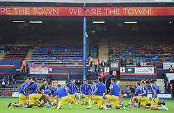 Bristol rovers warm up. - Mandatory by-line: Alex James/JMP - 15/09/2018 - FOOTBALL - Kenilworth Road - Luton, England - Luton Town v Bristol Rovers - Sky Bet League One