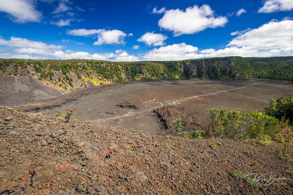 Kilauea Iki crater, Hawaii Volcanoes National Park, Hawaii USA