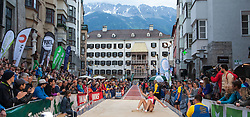 30.05.2015, Altstadt, Innsbruck, AUT, Golden Roof Challenge, Weitsprung Frauen, im Bild Alinia Rotaru (ROM) // Alinia Rotaru of Romania in action during Women´s long jump at Golden Roof Challenge in Innsbruck, Austria on 2015/05/30. EXPA Pictures © 2015, PhotoCredit: EXPA/ Jakob Gruber