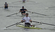 Photo: Peter Spurrier.Tel +44 7973 819 551 - email pictures@rowingpics.com.Rowing Tideway Scullers Head - Mortlake to Putney. Matt Landgridge, 2001 Junior World Champion single sculler, competing in the Scullers Head.. .. [Mandatory Credit: Peter Spurrier: Intersport Images]