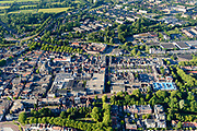 Nederland, Noord-Holland, Gemeente Purmerend, 13-06-2017; overzicht historisch centrum Purmerend, Koepelkerk, Koemarkt.<br /> Purmerend, small city north of Amsterdam, historical market town.<br /> <br /> luchtfoto (toeslag op standard tarieven);<br /> aerial photo (additional fee required);<br /> copyright foto/photo Siebe Swart