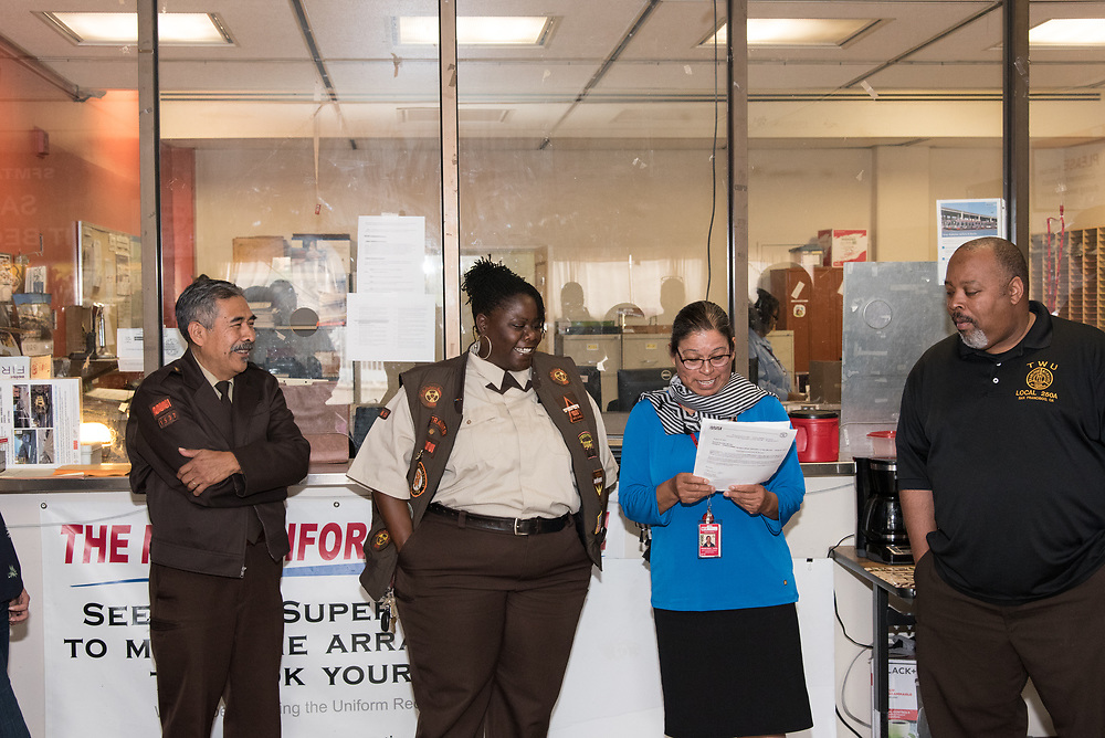 Systemwide Operator of the Month Ceremony at Green Division | August 25, 2017