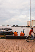 Preah Sisowath Quay along the Tonle Sap River, Phnom Penh