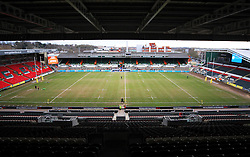 General view of Welford Road before the match - Mandatory byline: Jack Phillips/JMP - 28/02/2016 - RUGBY - Welford Road -Leicester,England - Leicester Tigers v London Irish - Aviva Premiership